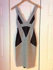 EUC Herve Leger Bandage Dress in Two-Tone Gray~Sz XXS~RARE~SEE DESCRIPTION!