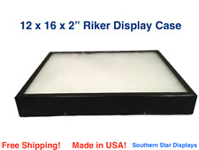 12 X 16 X 2 Riker Display Case Box For Collectibles Jewelry Arrowheads Amp More