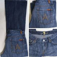 """7 SEVEN FOR ALL MANKIND """"A"""" Pocket Jeans 30 x 29.5 rinsed medium wash Boot $189"""