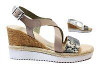 Cinzia Soft IG9738 Bianco e Taupe Sandali Scarpe Donna Calzature Comode