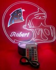 Carolina Panthers NFL Football Light Up Light Lamp LED With Remote Personalized