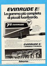 QUATTROR980-PUBBLICITA'/ADVERTISING-1980- EVINRUDE 7,5 FISHERMAN