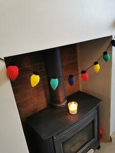 Novelty Knitted Festive Lights Garland