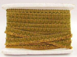"""Conso Trimmings Decorative Textile Trim Olive Green and Gold 1"""" x 7 Yds H044"""