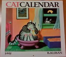 Collectable B Kliban Cat Calendar 1998 (or 2026) 12 pictures Cats Kitties Kitteh