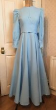 Vintage French 1950's Powder Blue Ball Gown Bridesmaid Dress Couture