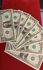 8x 1969 $1 One Dollar Notes - - Consecutive Sequential -