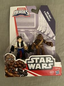 Galaxy Heroes Hans Solo and Chewbacca Figure, Brand New Sealed