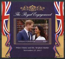 Antigua & Barbuda 2018 MNH Prince Harry Meghan Engagement 1v S/S Royalty Stamps
