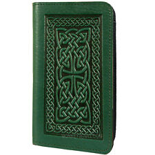 Celtic Braid Green Leather Checkbook Cover Oberon Design COMBINED SHIPPING