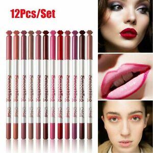 MeNow 12 Colors Set Lip Liner Pencil Waterproof Matte Nude Lip Makeup