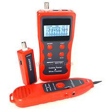 Network LCD LAN Cable Tester Phone Wire Tracker RJ45 RJ11 BNC USB Scanner 5E, 6E