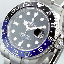 ROLEX GMT MASTER ll 116710BLNR BATMAN STEEL BLUE BLACK 116710 BLNR