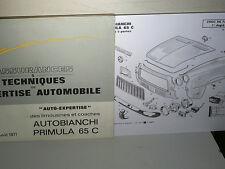 LIVRE EXPERTISE CARR+MECA/ AUTOBIANCHI PRIMULA 65C AOUT 1971