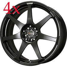 Drag Wheels DR-33 15x7 5x100 5x114 Black Rims For Solara Eclipse Corolla Mazda3