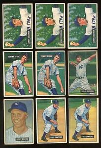 1951 Bowman - Lot of 14 Total With 9 Different - New York Yankees