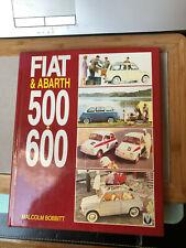 fr  Book Fiat & Abarth 500, 600 - author  Malcolm Bobbitt -1st  edition 1993