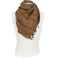 100% Cotton Coyote Shemagh Headscarf - Military Keffiyeh Army Scarf