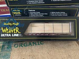 Weaver Petersen Supply Co COTTON BELT 50' Bulk Head Flat Car w/ Wood Load