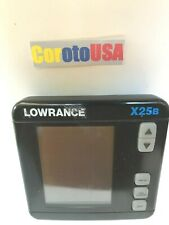 LOWRANCE X25B FishFinder Only HEAD UNIT with Mounting Knob Nuts (2)