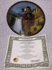 Chief Joseph Spirit of Freedom American Indian Heritage Hermon Adams Plate w/Coa