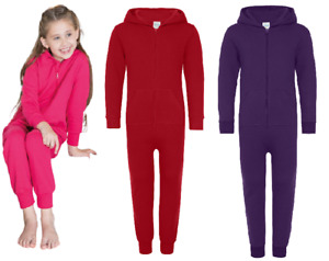 Kids Hood Zip Up All In One  Boys Girls Children Jumpsuit Comfy Co TrackSuit