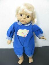 Doll with Blue Lamb Pajamas