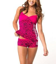 Metal Mulisha Little Secret Set Size L Sleepwear Pyjamas Top Bottom Pink