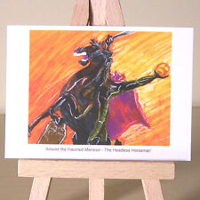 Jinete decapitado Haunting WDCC Sleepy Hollow tarjeta de arte dibujo ACEO Halloween