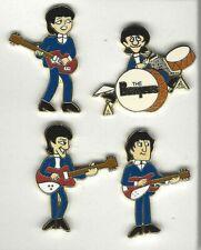 1999 The BEATLES Metal Hat / Lapel Set of 4 Pins Blue Suits