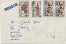 1965 Senegal airmail cover multifranchising to Italy