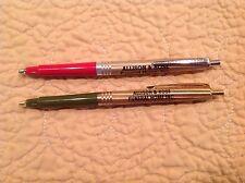 Vintage Ballpoint Pen Set of 2 Rite-O-Graph & Ready Riter Allison & Rose Funeral