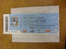09/02/2010 BIGLIETTO: Coventry City V NOTTINGHAM FOREST (SKY creazioni Lounge, cre
