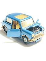 Corgi Toys BMC Mini Cooper S Blue Metallic Magnifique Sunroof Rare Diecast