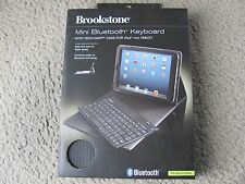 New Brookstone Mini Bluetooth Keyboard with Tech-Grip Case for iPad mini Tablet