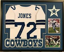 "FRAMED ED ""TOO TALL"" JONES AUTOGRAPHED SIGNED DALLAS COWBOYS JERSEY JSA COA"