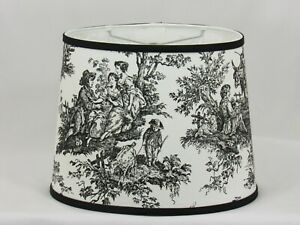 """Black Toile Shade, 12"""" Washer Fitter"""