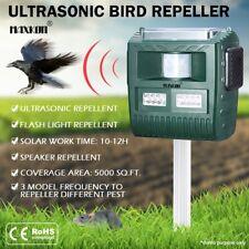 Ultrasonic Bird Animal Repeller Repellent with Loudspeaker Alarm Solar Powered