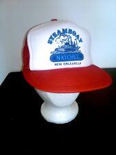 Vtg Steamboat NATCHEZ New Orleans LA Mesh Snap Back Flat Bill Trucker Hat Boat