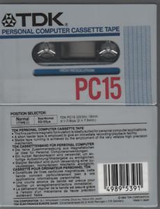 TDK 1x PC15 Cassette K7 Tape Vierge Blank neuf new rare computer 1984 japan