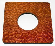 "1 Lens board 6x6""RC for Deardorff 8 x10"" - of plywood/Lacewood veneer -free hole"