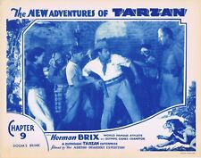 NEW ADVENTURES OF TARZAN 1935 Herman Brix Chapter 9 VINTAGE SERIAL Lobby Card 6
