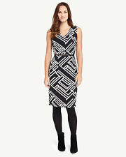 BNWT PHASE EIGHT CAROLINE STRUCTURED STRIPED MONOCHROME DRESS SIZE 14 RRP £140