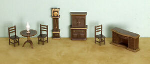 Dollhouse Miniature 1:48 Scale Ding Room and Bedroom Sets