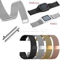 Milanese Loop Wrist Watch Strap Band for Pebble 1 / Pebble Time Smart Watch #H2U