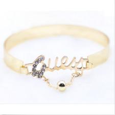 Fashion jewelry Love letter bracelet exquisite diamond silver gold bracelet