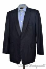KILGOUR Savile Row Blue 100% Wool Mens Dual Vent Blazer Sport Coat Jacket - 44 L