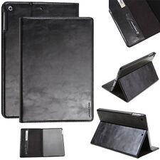 Luxury Leder Schutzhülle für Apple iPad Air 2 Tablet Tasche Cover Case schwarz