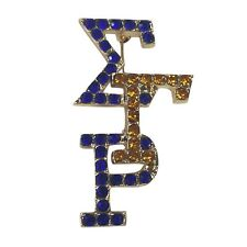 Sigma Gamma Rho Overlapped Crystal Letter Pin