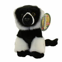 Adventure Planet Plush Heirloom Collection - BUTTERSOFT WHITE RUFFED LEMUR (7 in